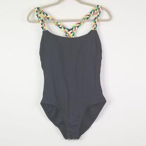 Anne Cole Swim - Anne Cole one piece black swimsuit braided straps